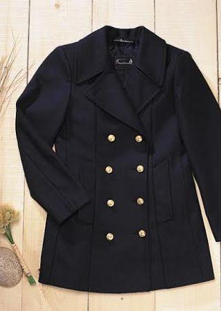 Isabelle MD breton marina chaquetón mujer forrada azul marino michel beaudouin