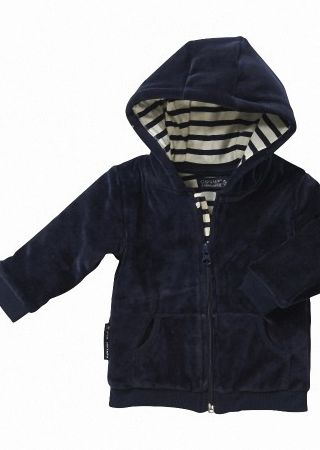 CLIPPER BABY Veste bébé zippée avec capuche en velours Captain Corsaire