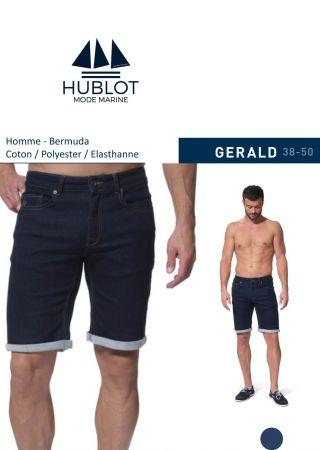 GERALD Bermuda pour homme en jean denim